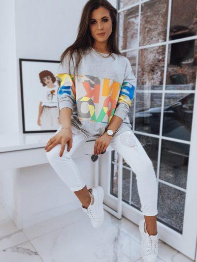 sportowa bluza damska z nadrukiem